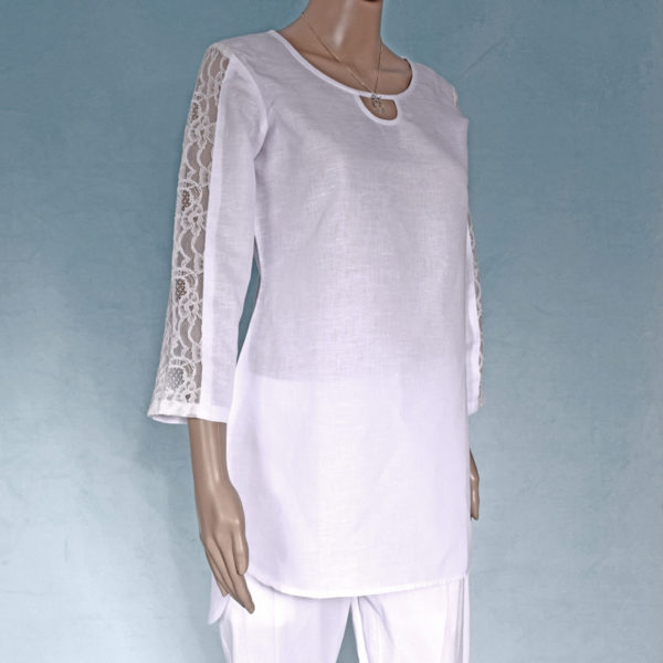 Yoga top, yoga tunic, traditional tunic, long sleeve tunic