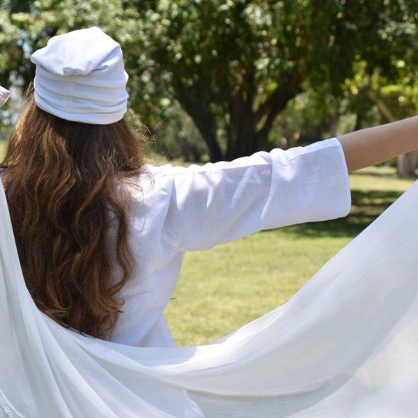 Yoga tunic, white yoga top, Kundalini yoga wear, white yoga shirt