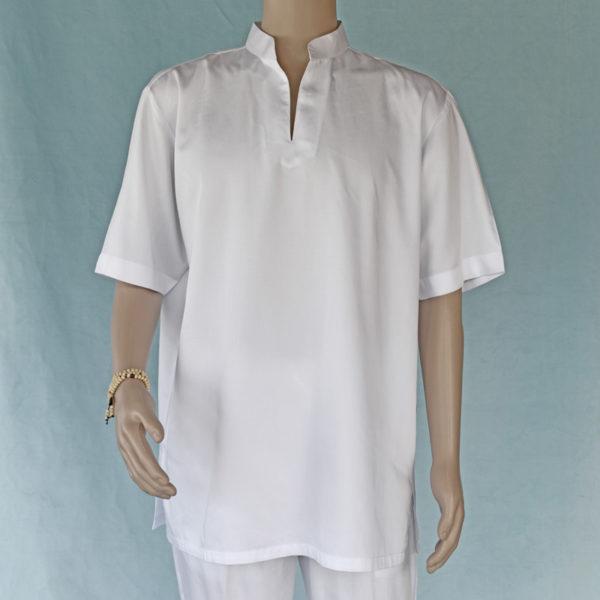 Mens short sleeve shirt cotton sateen