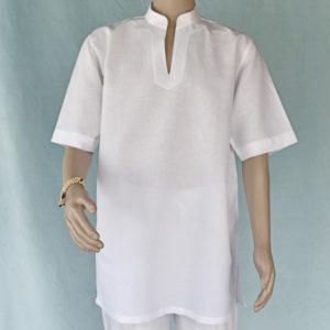 Mens short sleeve linen blend