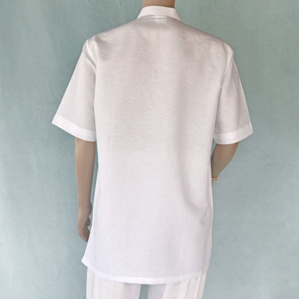 Mens short sleeve linen blend