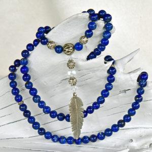 Lapis lazuli mala beads, lapis lazuli japa mala