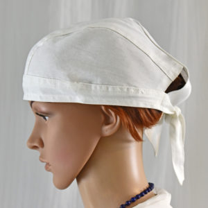 Cotton cap with tie, Unisex cotton head cover