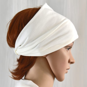 Cotton headband, white headband, stretchy headband, wide headband
