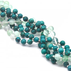 Tantric Mala Turquoise and Fluorite