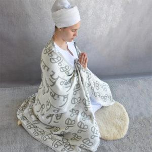 Meditation shawl with Mul Mantra